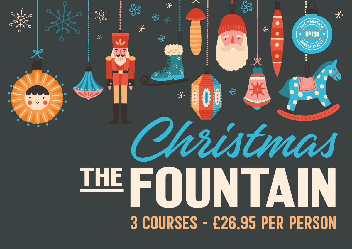 The Fountain Christmas Fountainbridge Edinburgh Book Here